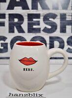 Rae Dunn Mug HERS. Lips Red Inside NEW RARE HTF 2018