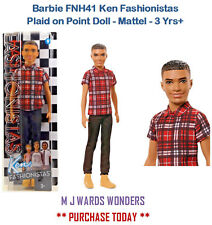 Barbie FNH41 Ken Fashionistas Plaid on Point Doll - Mattel - 3 Yrs+