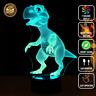 3D Dinosaur T-Rex Acrylic LED 7 Colour Night Light Touch Table Desk Lamp Gift