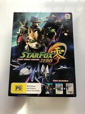 Nintendo Wii U Star Fox Zero First Print Limited Edition Includes Steel Book