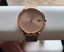 Lacoste 2001028 Moon 35MM Women's Rose Gold-Tone Stainless Steel Watch Nwt