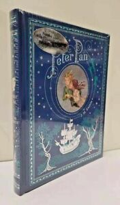 PETER PAN by Barrie ~Sealed Bonded Leather Hardcover ~ Illustrated  BRAND NEW