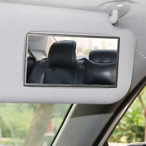 Universal Stainless Steel Clip On Sun Visor Makeup Mirror Car Truck Accessories