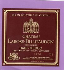 HAUT MEDOC CRU BOURGEOIS  ETIQUETTE CHATEAU LAROSE TRINTAUDON 1970 73 CL §15/01§
