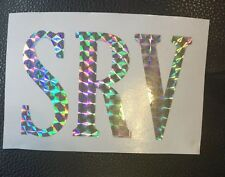 SRV or YOUR INITIALS sticker Decal Guitar 1st wife