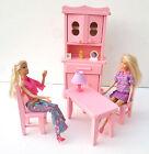 Jouet en bois meubles pour POUPEES MANNEQUINS, rose meuble cuisine