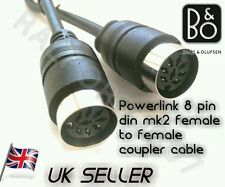 FEMALE to FEMALE Powerlink Cable Extender coupler joins 3,5,7,8 pin din B&O 30cm