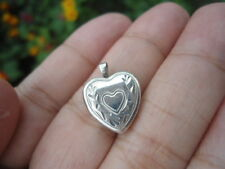 Vintage Sterling Silver - PRINCESS PRIDE Heart Locket (Opens!) 1.4g - Pendant