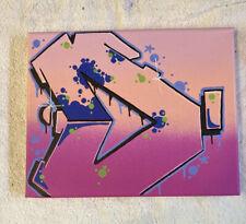 "Graffiti ""D"" 8 x 10 spray paint and marker Art on Canvas signed original"