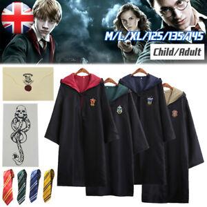 Harry Potter Gryffindor Robe Hogwarts Slytherin Cosplay Cloak Adult/Kids Costume