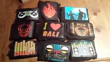 Sound Activated LED Black Graphic T-Shirt Light Up Party T Shirt  Cotton Tshirt