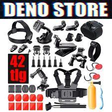 42 GoPro Hero Zubehör Kit Action Kamera Sport Cam Halterung Brustgurt Helmet Set