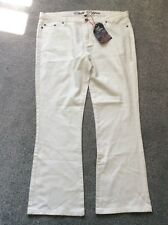 Chilli Pepper White Bootcut JEANS Sz 18 R Summer Holidays Fab Stylish Versatile