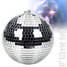 "UKDJ Léger Argent Miroir Danse Disco Party DJ Boule 150 mm 6"" Mirrorball"