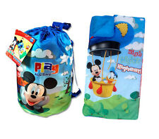 Disney Mickey Mouse Indoor Slumber Sleeping Bag For Kids w/Carry Drawstring