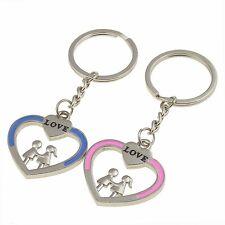 Par de llaveros CORAZONES Regalo romántico Romantic Hearts keychain A1011