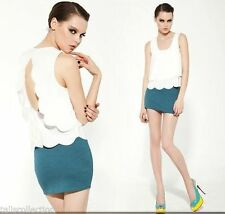 Unbranded Women's Sleeveless Solid Tops & Blouses