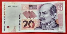 PRE EURO: BANCONOTA CROAZIA - 20  DVADESET VENTI KUNA 2012 - JOSIP JELACIC - FDS