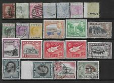 Collection of mixed mint/good used Cyprus stamps.