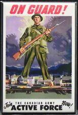 "Vintage WWII Canadian Army Poster 2"" X 3"" Fridge / Locker Magnet. Allied Forces"