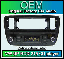 VW UP car stereo, VW RCD 215 CD MP3 player headunit with radio code