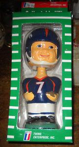 DENVER BRONCOS JOHN ELWAY NFL BOBBLE HEAD TWINS ENTERPRISES TEI NEW IN BOX NIB
