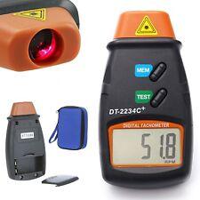 Digital Laser Tachometer RPM Meter Non Contact Motor Speed Gauge Revolution Spin
