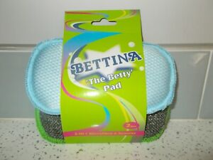BETTINA 'THE BETTY' PAD - 2-I-1 MICROFIBRE & SCOURER - PACK OF TWO
