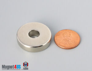 "2pcs 1""od x 5/16""id x 1/4""thick N45 25x8x6.3mm Rare Earth Neodymium Ring Magnet"