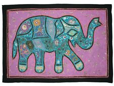 Wall Hanging Tapestry Indian Elephant Small Embroidered Tapestry Hippie Posters