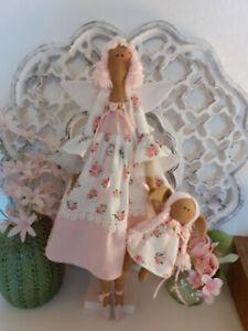 Sommer-Engel+Elfchen Tilda Dekoration Puppe Shabby Chic Landhaus Vintage