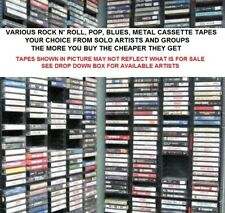 "Various Genres of Rock n' Roll, Pop, Blues, Metal Music Cassette Tapes  ""Choice"""