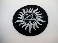 Sun Pentacle Pagan Wiccan Iron On Patch Black Metal GOTH Death rock Magick 2