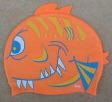 Chex Jaune Orange Poisson Fin Dents Silicone Chapeau de Natation Junior Approx