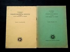 2 ISSUES 1960 & 62 Proceedings of the Parapsychological University of Utrecht