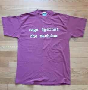 vintage 1993 Rage Against The Machine Large Molotov Cocktail Shirt