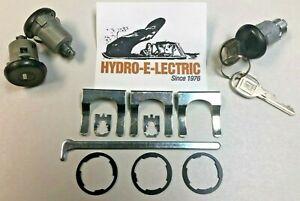 NEW 1985-1987 Oldsmobile Cutlass Door & Trunk Lock set with GM keys-Black Finish