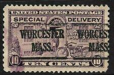 """""""Worchester MASS"""" Precancel SON 10 Cent Special Delivery BOB 9B61"""