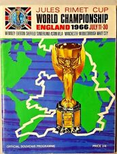 ENGLAND 1966 WORLD CUP OFFICIAL PROGRAM SIGNED BY 9 WORLD CUP WINNERS