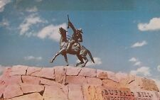 "*Wyoming Postcard-""Buffalo Bill Statue"" @ Cody, WY. (U1-668)"