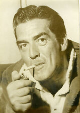 """Victor MATURE"" Photo originale par Robert COHEN (AGIP années 60 / 13x18cm)"