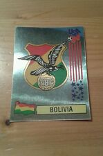 N°225 BADGE LOGO FOIL # BOLIVIA PANINI USA 94 WORLD CUP ORIGINAL 1994