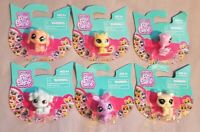 Littlest Pet Shop Mini Toy Figures Set 6 Cake Toppers Party Favors Animals NEW