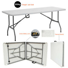 6FT HEAVY DUTY 1.8 Meter FOLDING CATERING CAMPING TABLE TRESTLE BBQ PICNIC PARTY