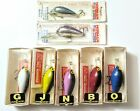 Lot Of 5 Norman Color C Lector Lures 2 NOS - Old school lures @ D's Tackle Box