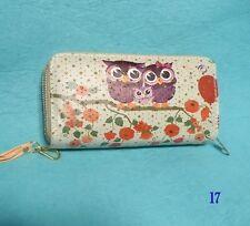 2 Zipper Ladies Women Owl Leather Clutch Bag Wallet Long Card Holder Purse Hot!