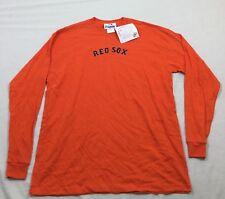 M36 New MAJESTIC Boston Red Sox Orange Long Sleeve Shirt Tee MEN'S XL