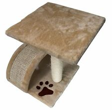 """15"""" Small Cat Tree Bed Tower Perch Sisal Scratch Pole Post Pet Kittens Paw Print"""