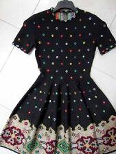 $2795 Alexander Mcqueen NWT Pixel Knit Full Circle Volume Skirt Mini Dress S