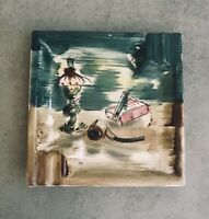 Mid century ashtray made in japan hand painted